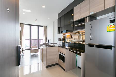 1 Bedroom Condo for Rent in Din Daeng, Bangkok - For rent @THE LINE Asoke-Ratchada, near MRT Rama 9 (No. 3707).