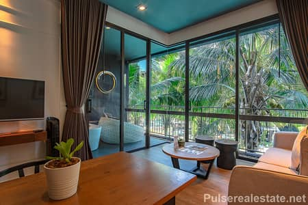 1 Bedroom Apartment for Sale in Mueang Phuket, Phuket - Elegant 1 Bedroom Pool View Serviced Apartment for Sale, Nai Harn, Phuket