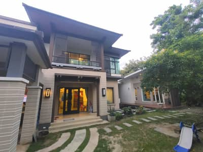 4 Bedroom Home for Sale in Sai Mai, Bangkok - Selling at a loss, very cheap, single house, Setthasiri Watcharaphon Sukhaphiban 5, Main Road, big house, 151 sq m, behind the corner, at the beginning of the project, add one more house, built-in marble, beautiful, luxurious, completely renovated, great