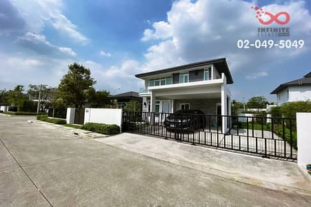 4 Bedroom Home for Sale in Bang Bon, Bangkok - Single detached house for sale, Manthana Ring Road - Bang Bon, near the outer ring road, behind the corner.