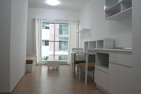1 Bedroom Condo for Rent in Din Daeng, Bangkok - For rent: A SPACE Condo Asoke-Ratchada, 1 bedroom 35 sqm. , Full furniture. There is a swimming pool + fitness facility. Near MRT Rama IX, 9,000 baht