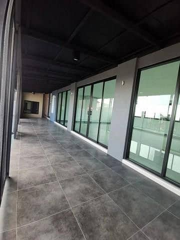3 storey detached house for rent, Ladprao 71 Near along the express Near Central East View Suitable for office, parking for 12 cars