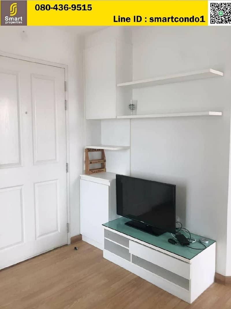 Condo for rent, The Trust Ratchada Rama 3, 15th floor, only 8,500 baht, beautiful room, corner room, fully furnished, good location condo opposite Central Rama 3