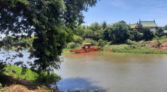 Land for Sale in Bang Pla Ma, Suphanburi - Land for sale by the river, Suphan Buri.