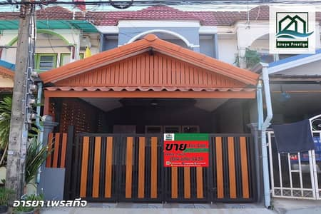 2 Bedroom Townhouse for Sale in Lat Krabang, Bangkok - Townhouse for sale, Rungkit Villa 5, Romklao 56, renovated, ready to move in.