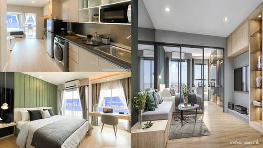 1 Bedroom Condo for Sale in Bangkok Noi, Bangkok - Condo for sale down payment (sale of reservation), the latest project from LPN Lumpini Ville Charan-Faichai, Building C, 14th floor, Room C-1424 (corner room) **Selling by owner**