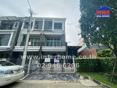 4 Bedroom Townhouse for Sale in Mueang Nonthaburi, Nonthaburi - Town hose 3 floors 34.4 sq. w. Central Village Ratchada - Wongsawang Tiwanon Road