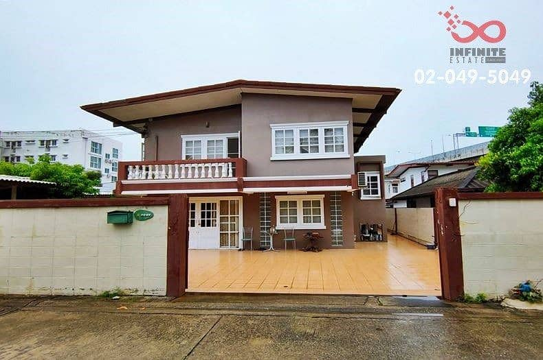 2 storey detached house for sale, Charansanitwong 75 Near the road along the Si Rat Expressway, outer ring