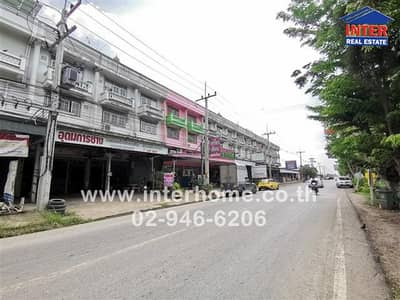 6 Bedroom Office for Sale in Nong Suea, Pathumthani - 3.5-storey commercial building 54 sq. w. Next to the road to Charoen Kan Market National Highway 3261