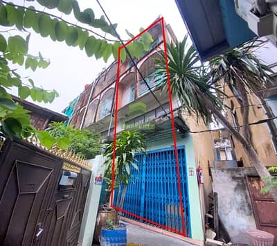 Commercial Building for Sale in Thon Buri, Bangkok - Urgent sale, 4-storey commercial building, Soi Inthaphithak 1, area 12.30 sq. wa. , very good location, near Wongwian Yai, Pho Nimit BTS.