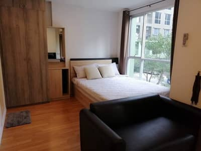 1 Bedroom Condo for Sale in Bang Na, Bangkok - The owner sells by himself, excellent condition, Lumpini Place Bangna Km. 3 A, 2nd floor, east view, trees.