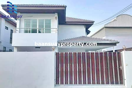 3 Bedroom Home for Rent in Suan Luang, Bangkok - House for rent, ready to move in, on Phatthanakan Road, near Lotus Phatthanakan