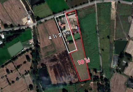 Land for Sale in Mueang Nakhon Sawan, Nakhonsawan - Land for sale 14 rai 2 ngan 97 sq m. with 2 houses with red brick business and regular customer contact. Urgent sale by owner!!! **Red Garuda Deed**