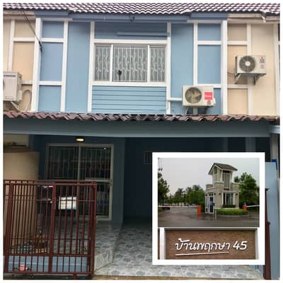3 Bedroom Townhouse for Rent in Bang Yai, Nonthaburi - Sell or rent Baan Pruksa 45 Soi Wat Lat Pla Duk, 3 bedrooms, 2 bathrooms, 2 air conditioners, complete extension, nice to live.