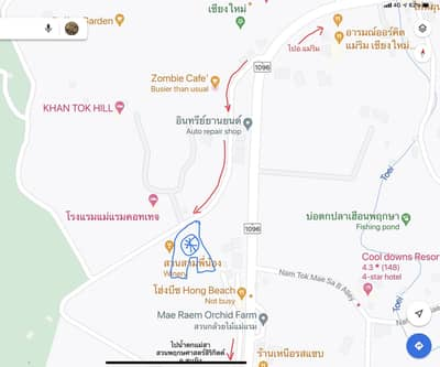 Land for Sale in Mae Rim, Chiangmai - land for sale It is a vacant land at the foot of the hill, Mae Ram Subdistrict, Mae Rim District, Chiang Mai.