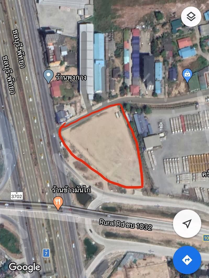 Rent or sell 4 rai of land on the 7th Bypass road, rent 35, 000 per rai.