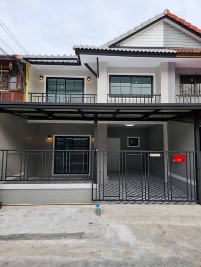 3 Bedroom Townhouse for Sale in Bang Bua Thong, Nonthaburi - 2 storey townhouse for sale, newly renovated and ready to move in. Pruksa Village 3 Soi 141 Wat Lat Pla Duk Road, Bang Bua Thong, Nonthaburi