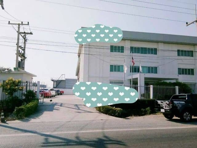 Land for sale 1 rai 1 ngan with 3-storey commercial building on Bang Pa-in - Ayutthaya road. Sale with tenants Monthly income from tenants. 263,000 offices per month