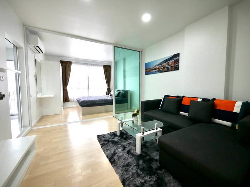 Very beautiful, quick sale, D condo Ram 64, newly decorated, ready to move in, size 30 sqm. , Beautiful room (free transfer)