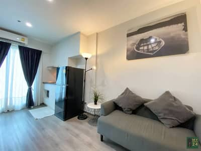 1 Bedroom Condo for Rent in Suan Luang, Bangkok - Rent RICH PARK TRIPLE STATION Huamark, 28 sq m. Fully furnished, very beautiful room 9000 baht.