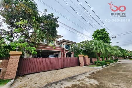 3 Bedroom Home for Sale in Pak Kret, Nonthaburi - Luxury 2-storey detached house for sale, Laddarom Elegance Village, Ratchaphruek - Rattanathibet, behind the corner, special zone, in front of the garden, with a private pool.
