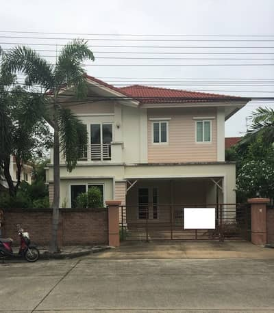 3 Bedroom Home for Rent in Sai Mai, Bangkok - For rent, 2 storey detached house, Casa Ville Village, Sukhaphiban 5, Main Road, good location, next to the garden, ready to move in