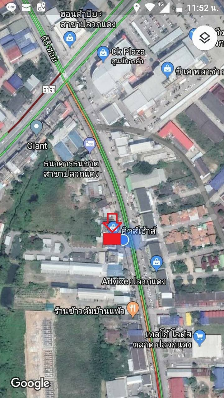 3-storey commercial building for sale in the business district, Pluak Daeng district