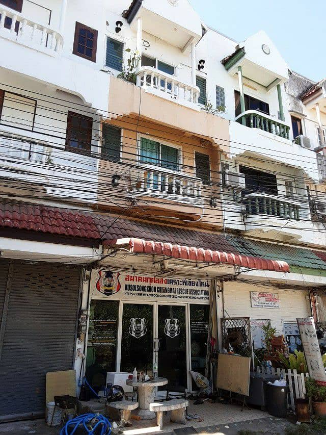 3-storey building for sale with tenants, good location in the middle of Chiang Mai city, good potential, worth the investment You can trade by yourself. This price tells me it's hard to find.