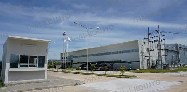 Factory for Sale in Sung Noen, Nakhonratchasima - Special price, second hand factory sales, size 3506 sqm. , Area 7 rai, Nava Nakorn Korat, purple layout 3506 square meters