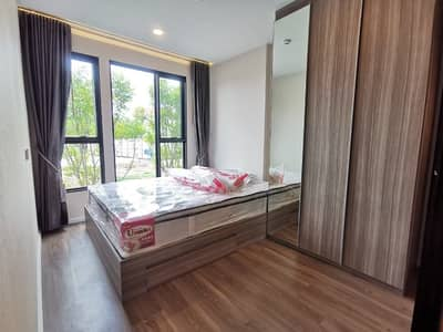 1 Bedroom Condo for Rent in Khan Na Yao, Bangkok - the origin Ramintra 83, first-hand room, 2nd floor, Building H, near the exit, fully furnished !!