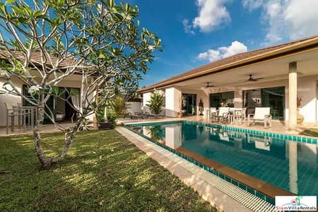 4 Bedroom Home for Rent in Thalang, Phuket - 10 Pools Villa | Contemporary Four Bedroom Pool Villa for Rent in Cherng Talay