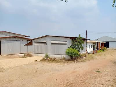 Office for Sale in Phanat Nikhom, Chonburi - Factory for sale in an area of 8 rai, an area of 1,000 square meters, with 3 office plants, water, power transformers, 100 KVA, Nong Hiang Subdistrict Phanat Nikhom District Chonburi Province
