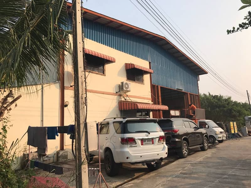 Factory sales, area 309 square meters, usable area of 1,000 square meters, 3-phase electricity, weight-bearing floor 3 tons sq m, Hua Wiang Subdistrict, Mueang Suphanburi District