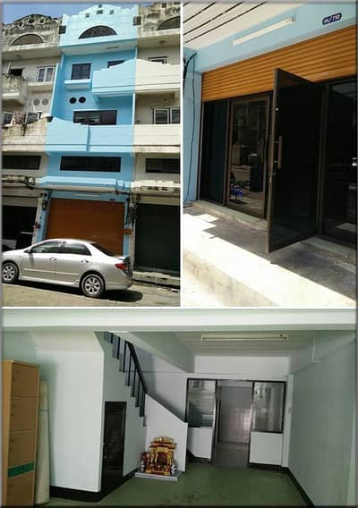 3 Bedroom Townhouse for Rent in Bang Kapi, Bangkok - Rent a 4-storey commercial building, 1 pair, looking for a whole new decoration after 1 air conditioner, ready to move in Suitable for housing office, Nawamin Phokaew Road, rental price 12,000 baht.