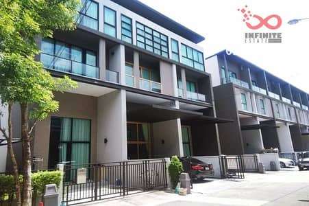 3 Bedroom Townhouse for Sale in Lak Si, Bangkok - 3.5 storey townhome for sale, Baan Klang Muang, Vibhavadi 64, Chaeng Watthana Road, close to BTS. 11th Infantry Regiment Station