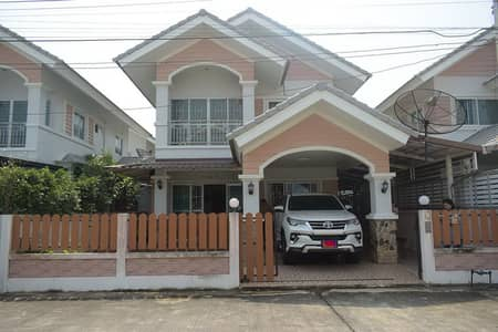 2 storey detached house for sale, 3 bedrooms, 2 bathrooms, very new condition, opposite Makro, Nakhon Nayok