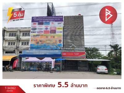 Commercial Building for Sale in Mueang Rayong, Rayong - 4-storey commercial building for sale, Map Ta Phut, Rayong, prime location.