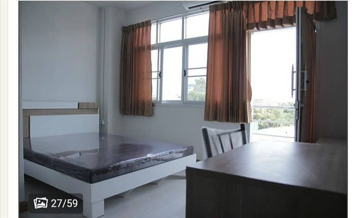 BN apartment Soi Rama 2 (39) Apartment for rent, convenient transportation, near Central Rama 2 With furniture and complete facilities