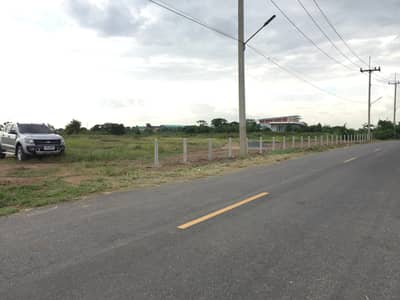 Land for Sale in Maha Rat, Ayutthaya - Land next to Luang Pu Thuat, Ayutthaya, 3 rai, width 64 meters, on both sides of the road, front and back (backside will be a pool view)