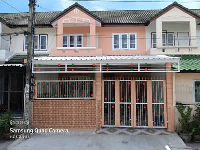 3 Bedroom Townhouse for Sale in Bang Khun Thian, Bangkok - Townhouse for sale, 2 floors, 3 bedrooms, 2 bathrooms, kitchen, parking, main hall, Pisan Village, near Big C, Central, Home Pro, Rama 2.