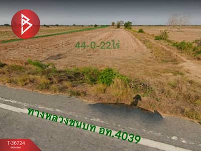 Land for Sale in Wiset Chai Chan, Angthong - Land for sale, area 44 rai 22.0 square wa, Wiset Chai Chan, Ang Thong.