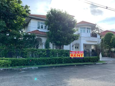 5 Bedroom Home for Rent in Mueang Samut Sakhon, Samutsakhon - 2 storey detached house for rent, The Grand Rama 2 , Park Ville zone, area 107 square wah, corner unit