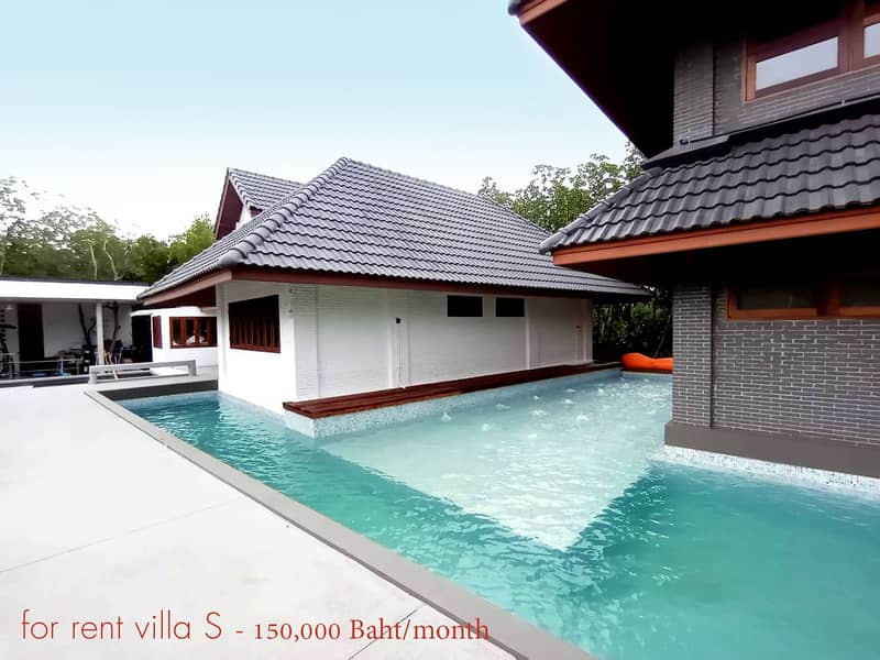 Villa for rent with swimming pool surround By the sea, Phetchaburi