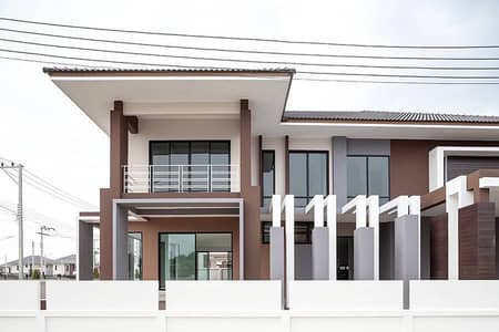 4 Bedroom Home for Sale in Mueang Nakhon Sawan, Nakhonsawan - Quick sale! 2 storey detached house, Dee Prom Ville project, area 103.5 sq. wa. , Wat Sai Subdistrict, Khae Mueang District, Nakhon Sawan.