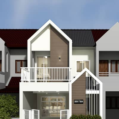 3 Bedroom Townhouse for Sale in Ban Pong, Ratchaburi - 2-storey townhome, Charoen Kha Village, Hua Pong, 3 bedrooms, 2 bathrooms, beautiful
