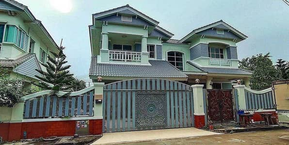 3 Bedroom Home for Sale in Thanyaburi, Pathumthani - 2 storey detached house for sale, Manthana Village, Rangsit, Khlong 2, behind the corner, front garden zone, large house, area 123 sq. wa. , newly renovated, beautiful, ready to move in, Thanyaburi, Prachathipat, Pathum Thani