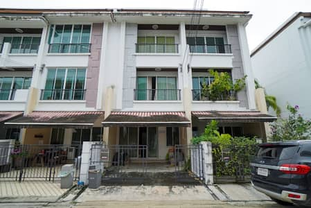 3 Bedroom Townhouse for Sale in Chom Thong, Bangkok - Townhome for sale, 3 floors, Baan Klang Muang, Sathorn-Taksin 2, size 20 sq. wa. , 3 bedrooms, 3 bathrooms, near BTS Wutthakat