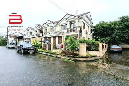 4 Bedroom Home for Sale in Bang Yai, Nonthaburi - 2 storey detached house, behind the corner of Thipiman Project, Baan Rim Klong, area 41 sq m. , has 4 bedrooms, 2 bathrooms, Nonthaburi Province.