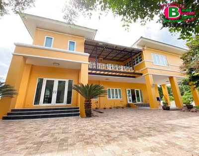 2 storey detached house for sale, large house, built self-build settlement project, Lam Takhong Industrial Estate, plan 3, area 2 rai with 4 bedrooms, 5 bathrooms, Mittraphap Road, Pak Chong, Nakhon Ratchasima