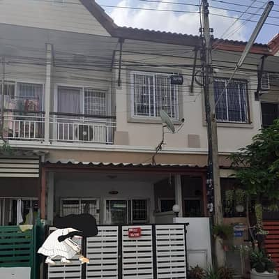 2 Bedroom Townhouse for Sale in Thanyaburi, Pathumthani - # 2 storey townhouse for sale, ready to live in Soi Wat Bang Phun Rangsit (1 free air conditioner) No. 15/116 m. 16.60 sq m. usable area 72 sq m. 2 bedrooms, 2 bathrooms
